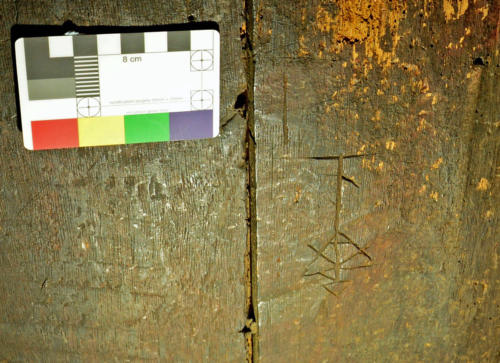10. Merchants mark type motif. Back of rood screen.