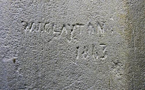 4. W.J. Clayton 1863. North aisle pier.