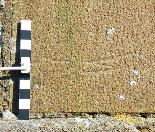 5. ?Masons mark. External eastern buttress.