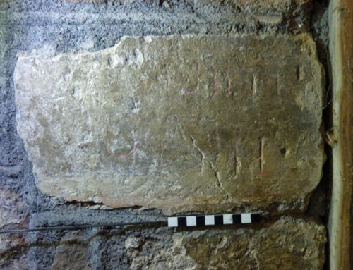 6. Lettering &  other marks (highlighted). Tower S. doorway.