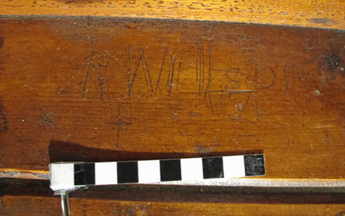 6. Name R. Wilson, and cross. Bench.