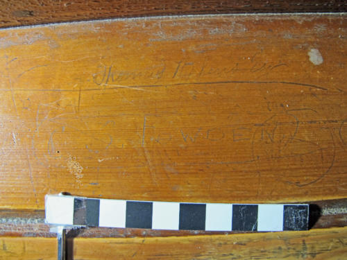 7. Names Thomas Stephens Esq. &   C.S. Fowden. Bench.