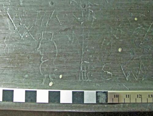 7. Figure walking; Initials & letter W. Organ Gallery.