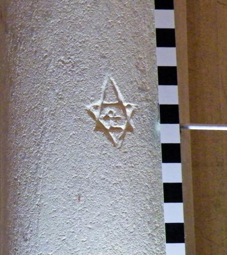 8. Hexagram, with central feature. South aisle pier.