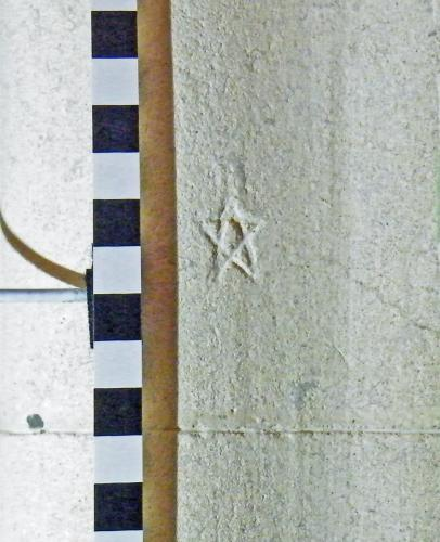9.  Pentangle. South aisle pier.