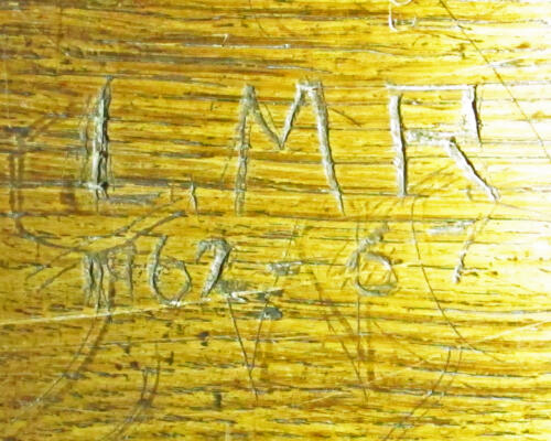 4. Initials I.M.R and dates 1962-67, on choir stall.